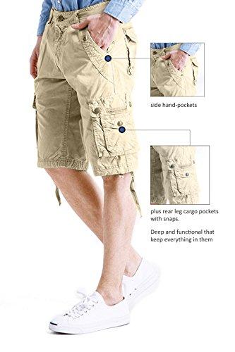 Cyparissus Mens Cargo Shorts Multi Pockets Short for Men (36,Khaki) by Cyparissus (Image #2)