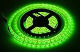 Lumcrissy Lumcrissy 5M 16.4ft 5050 Waterproof 300 LED LEDs SMD Flexible LED Flash Lighting Lamp Strip Light (Green)