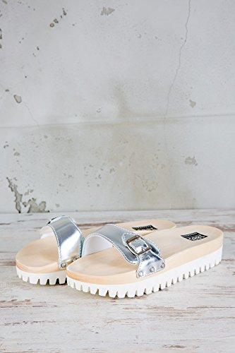 Anne Klein Querly Silber Flache Sandalen Damen   Online Kaufen