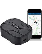 GPS-tracker,150 Dagen Stand-by Waterdichte,Anti-verloren GPS-locator met Geo-Fence-alarm GPS-positietracker voor Auto's/Voertuigen/Vrachtwagens/Motorfietsen/Schepen/Vloot App-tracking 10000 mAh