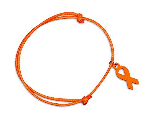 Leukemia Awareness Adjustable Orange Ribbon Cord Bracelets (5 Bracelets Individually Bagged)