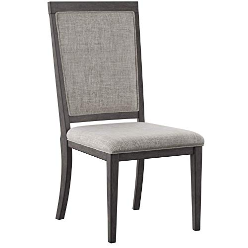 Ashley Furniture Signature Design - Chadoni Dining Side Chair - Set of 2 - Upholstered - Metal Accents - Smoky Gray Finish by Signature Design by Ashley (Image #3)