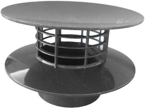 Extracteur statique ø 100 mm gris noir ADEQUA SO-EXTRAC100G