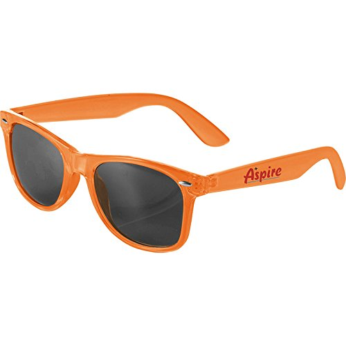 Multi-Colored Sun Ray Sunglasses - Crystal by iPromo - 150 Quantity – $2.50 each - (Promotional Product/Custom Branded with your specific Logo) (Translucent - Custom Logo Sunglasses