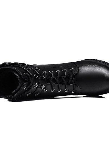 Mujer Botas De Taupe Cn38 5 Sintético Uk6 Casual 5 Moto 5 Robusto Zapatos Black Cn40 us7 Eu38 Vestido Xzz Tacón Uk5 Gris Nieve us8 5 negro Anfibias Eu39 E1XU5wcqAc
