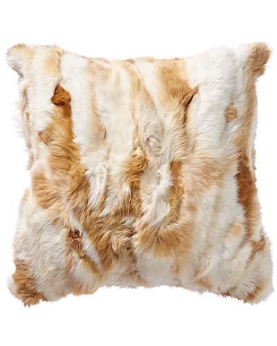 Adrienne Landau Rabbit Fur Pillow ()