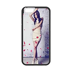 iPhone 6 4.7 Inch Cell Phone Case Black Graceful Sexy Women Flying Rose Petals Bopgd