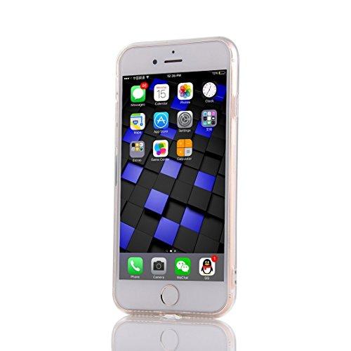 Meimeiwu TPU Spiegel Hülle Mirror Case Schutzhülle Silikon Case Schlank Handy Cover für Apple iPhone 7 - Rose Gold
