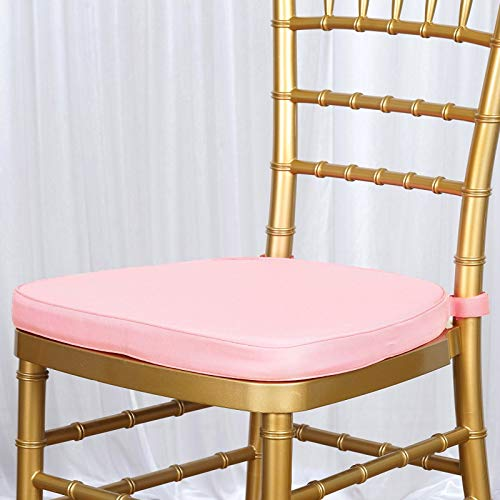 Pink Chair Pad - Efavormart Blush Pink Chiavari Chair Cushion Chair Pad with Attachment Straps Party Event Decoration - 2