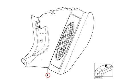 amazon bmw genuine interior front left m trim panel lateral 2000 BMW 323I Manual image unavailable