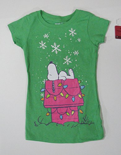 Peanuts Snoopy on Dog House Youth Girls T-Shirt Size (Peanuts Dog Costume)