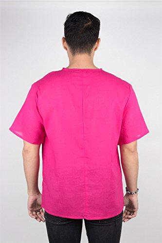 A Uomo T Collo Sleeve Short Magenta V Lofbaz Thai shirt wSZqnUX6X