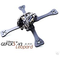 GEPRC X220 H220 Carbon Fibre Quadcopter Drone Frame Kit for Micro FPV Racing Drone Support 2204 2205 2206 Brushless Motor(GEP-LX5-V3 Leopard)