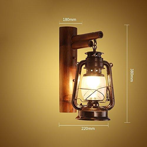 Vintage Wandleuchte, Retro Wandleuchte Restaurant Bar Licht Wohnzimmer Beleuchtung Petroleumlampe Treppen Lichter Bambus Beleuchtung E27 Engineering Wandleuchte 22  38 cm Neu (Größe  22  38 CM)