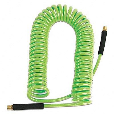 red air hose coiled - 2
