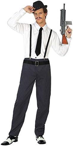 Atosa-38762 Disfraz Gangster, Color Negro, XL (38762): Amazon.es ...