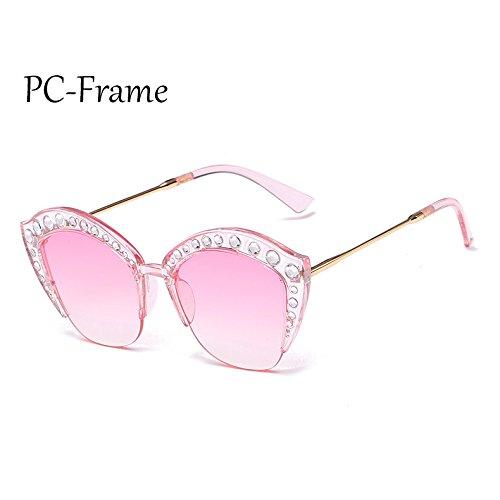 PC PC sexy marco Gafas Marco C6 de tonos de C3 gafas de gato Sunglasses TL ojo de Rhinestone sol Frame Medio G161 señoras Mujer AqRBzw