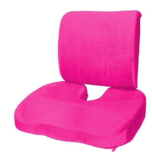 Set of 2: Seat Cushion Coccyx Orthopedic Memory Foam Lumbar