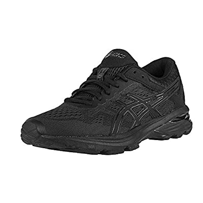 ASICS GT-1000 6 Women's Running Shoe, Black/Black/Silver, 7.5 M US