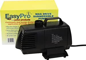 EasyPro EP2200 Submersible Mag Drive Pond Pump, Max Flow 2200 Gallons-Per-Hour