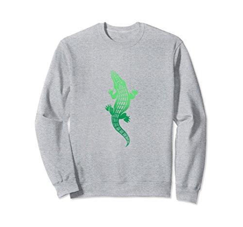 Kids Crocodile Hunter Costume (Unisex See Ya Later Funny Alligator Sweatshirt Gator Crocodile Large Heather Grey)