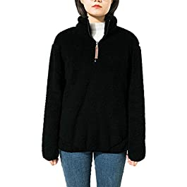 Women's Sweatshirt Reversible Fleece Sherpa  Pullover Jacket