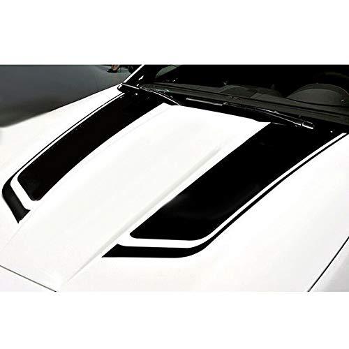 Decorazione Fai da Te Universale per tettuccio Bagagliaio znwiem Impermeabile 2 Adesivi in Vinile Nero per Cofano Auto da Corsa Gonna paraurti Nero PVC 85 * 24cm