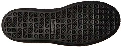 Puma Womens Basket Platform Patent Fashion Sneaker Puma Black-puma Black