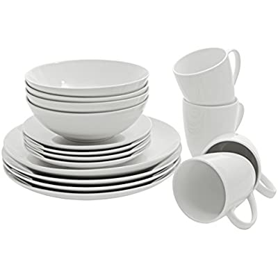 Click for SM-1600-CP-W 10 Strawberry Street Coupe Dinnerware Set, White