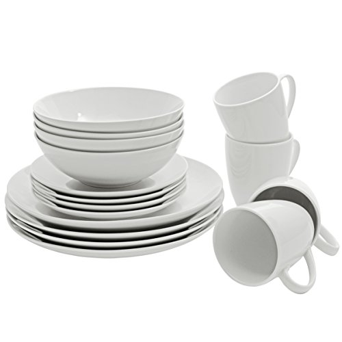10 Strawberry Street Porcelain Simply Coupe Dinnerware Set, White