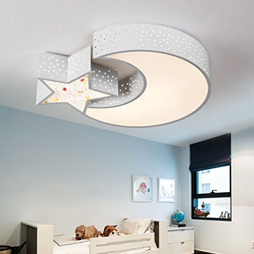 Children's Room Ceiling Lamp, Creative Cartoon Light, Boys And Girls Bedroom LED Ceiling Light, Long 56cm Wide 46cm High 9cm ( Color : Trichromatic light )
