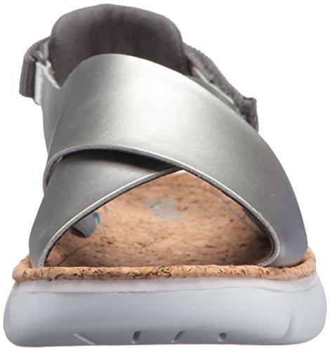 Camper Da Donna Oruga K200157 Sandalo Flat Argento