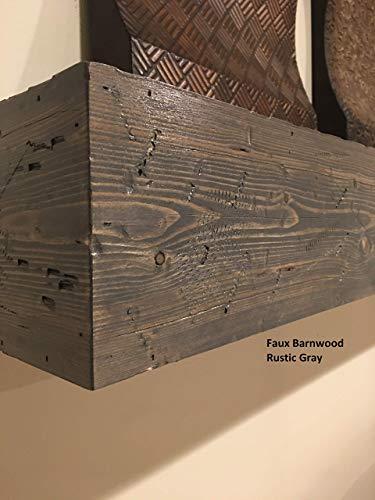 Cheap Racks & Shelves 8 deep rustic fireplace mantels faux barn wood you choose
