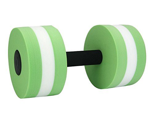 niceEshop(TM) Foam Dumbbells Water Aerobic Exercise Hand Bars Pool Resistance Exercises Equipment,Set of 2,Green (Water Aerobic Weights compare prices)