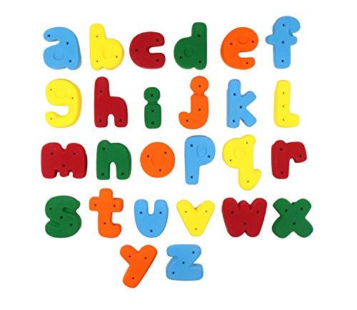 Alphabet Climbing Holds - Medium Screw-On Alphabet ABC Set Medium Letters A Through Z l Climbing Holds l Mixed Bright Tones