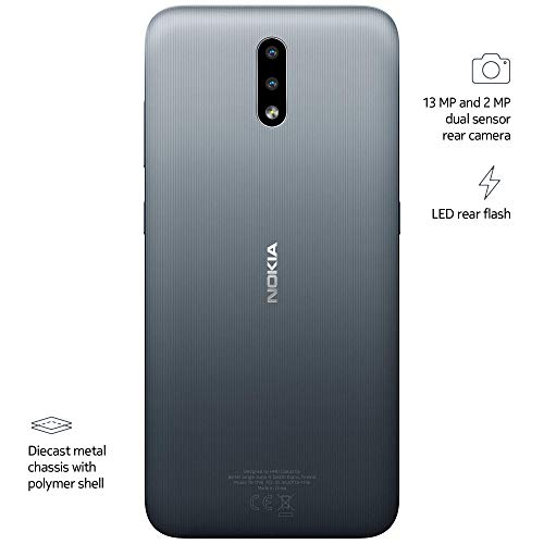 Nokia 2.3 Fully Unlocked Smartphone with AI-Powered Dual Camera and Android 10 Ready, Charcoal (AT&T/T-Mobile/Cricket…