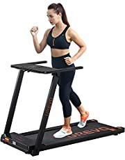 UREVO Foldable Treadmills for Home,Under Desk Electric Treadmill Workout Running Machine,2.5HP Portable Compact Treadmill with 12 Pre Set Programs and 16.5 Inch Wide TreadBelt