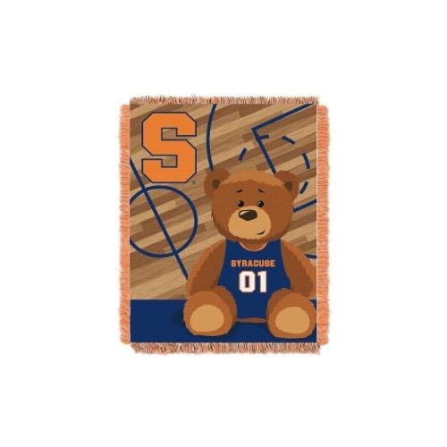 - The Northwest Company Officially Licensed NCAA Syracuse Orange Half Court Woven Jacquard Baby Throw Blanket, 36