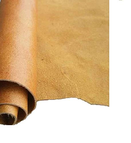 (REED Leather HIDES - Cow Skins Various Colors & Sizes (12 X 24 Inches 2 Square Foot, Camel))