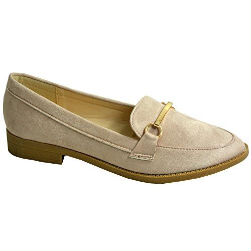 Las Unido Shoes se Pumps los 6 Reino 4 8 planos deslizan Nuevas Ballet mujer Casual Summer talones 3 sobre Bailarina damas Dolly 7 para Rosa Tamaño 5 niñas 8qRAwY