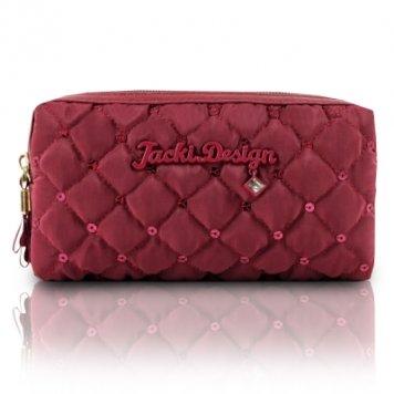 jacki-design-abc15016bk-bella-donna-cosmetic-bag-with-double-zipper-black