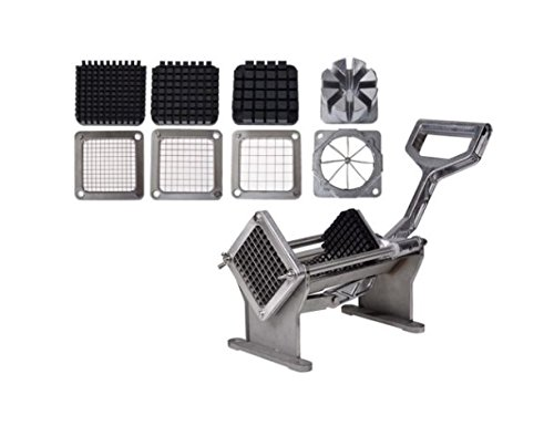 Potato French Fry Fruit Vegetable Commercial Cutter Slicer Cutting W/ 4 Blades US ()