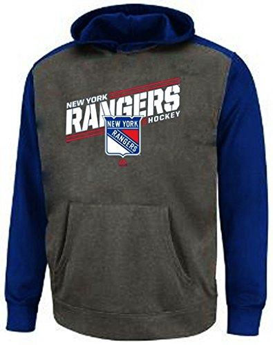 Majestic New York Rangers NHL Boys Pond Hockey Raglan Hoodie Youth Sizes (M)