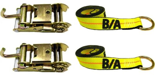 BA Products 38-10A-38-1-x2, Set of 2 Straps & Ratchet with Finger Hook for Wheel Lift by BA Products