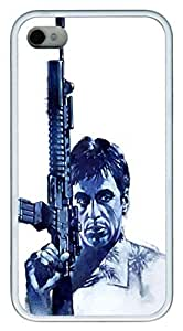 iPhone 4S Case and Cover Scarface TPU Silicone Rubber Case Cover for iPhone 4 and iPhone 4s White by Maris's Diaryby Maris's Diary