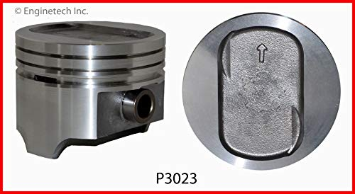ENGINETECH P3023(8)030 RECTANGULAR DISH-TOP PISTONS (SIZE:030) compatible with 1977-1993 FORD 5.8L 351 351W V8 WINDSOR