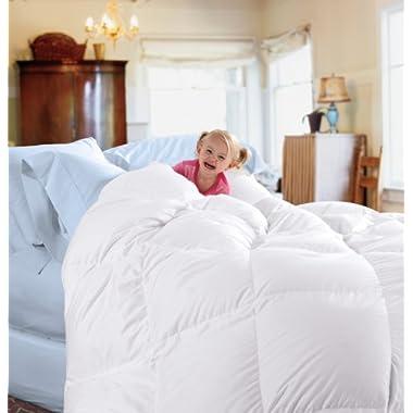 Cuddledown 233TC Down Comforter, Queen, Blanket White