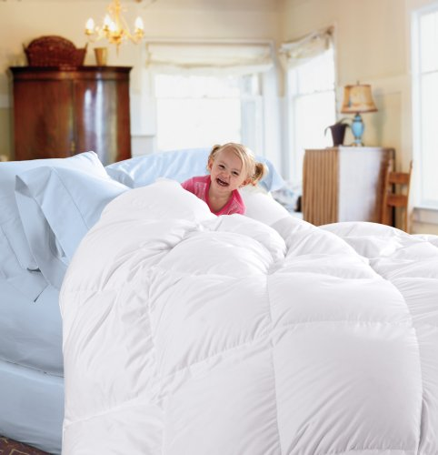 Cuddledown 233TC Down Comforter, King, Level 1, White