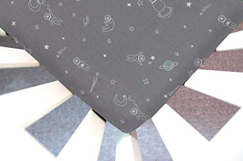 Little Moose by Liza Handmade Sheet Made to Fit Guava Lotus Bassinet in to Bearfinity & Beyond (Bear Space Moon Stars Gray). This Sheet was Not Created or Sold by Guava Lotus.