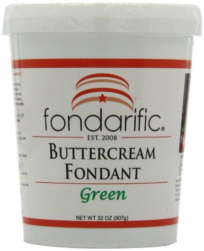 Fondarific Buttercream Green Fondant, 32 Ounces by Fondarific